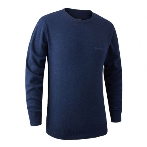 Deerhunter Brighton  Round Neck Pullover: Blue Mix